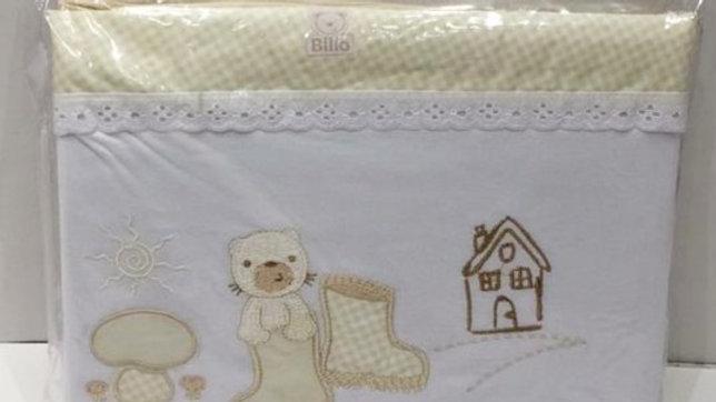 Jogo de lençol berço americano 3 peças Billo Minasrey