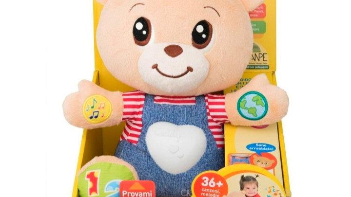Teddy o ursinho bilingue das emoções Chicco
