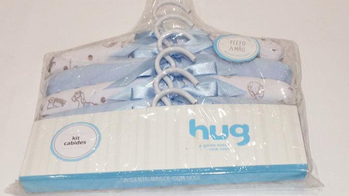 Kit c 6 cabides brinquedo azul Hug