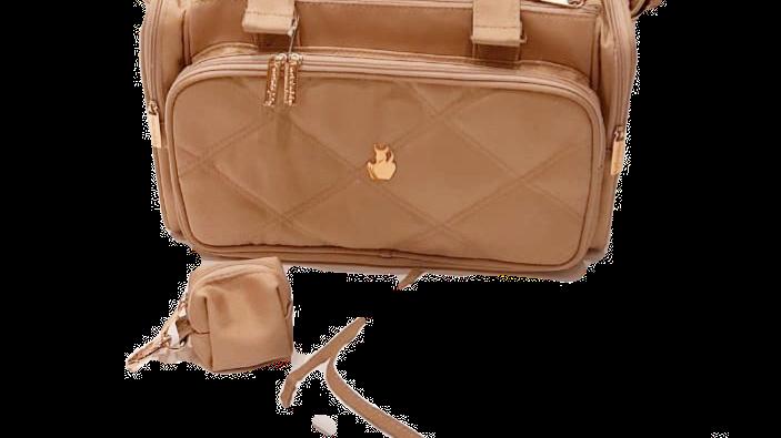 Bolsa grande com divisórias e trocador e porta-chupeta Master Bag