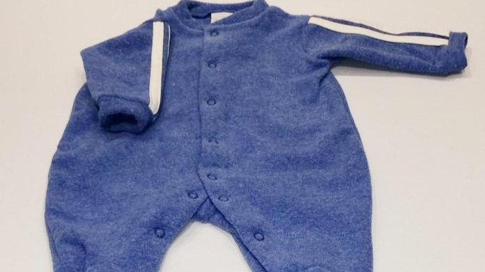 Macacão soft básico azul royal Tilly Baby