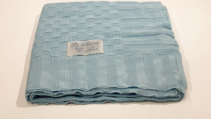 Manta Le tricot azul Colibri