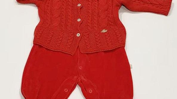 Macacão plush c casaco tricot Beth Bebê - M