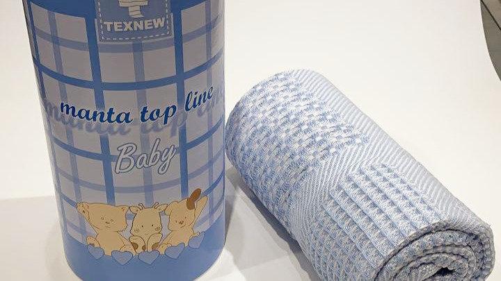 Manta top line baby azul texnew