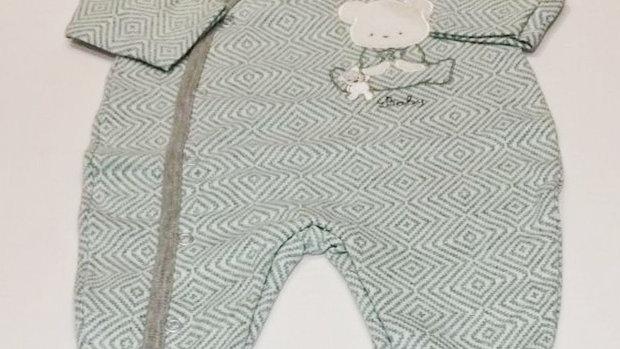 Macacão malha urso baby Baby Fashion