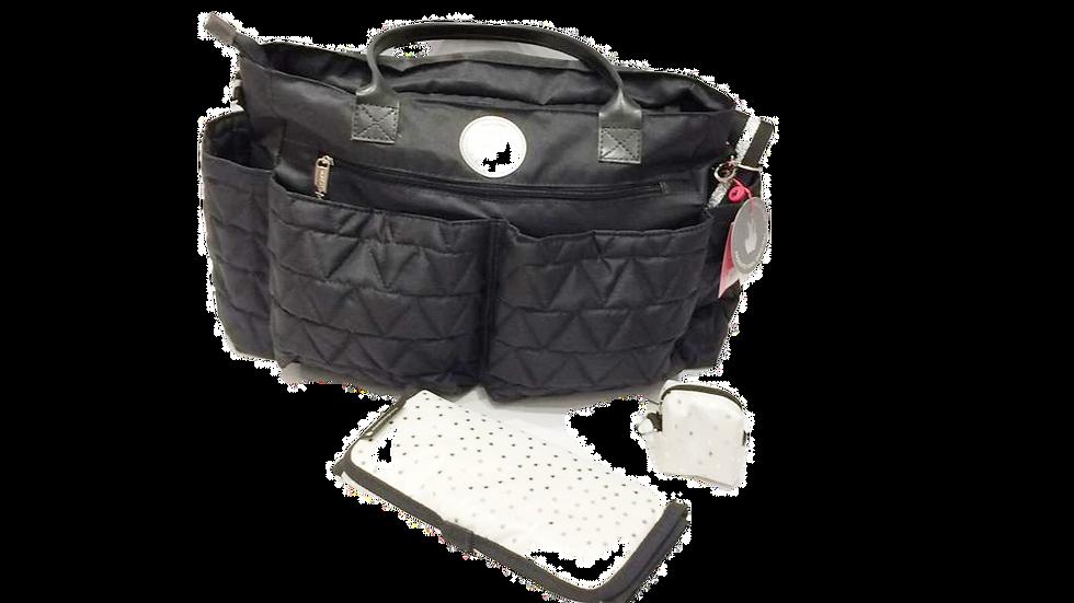 Bolsa grande com divisórias trocador e porta chupeta Master Bag