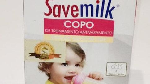 Copo de treinamento rosa Savemilk