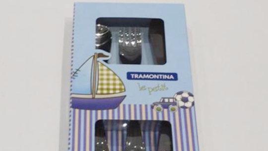 Kit talheres aço inox 3 pçs Tramontina