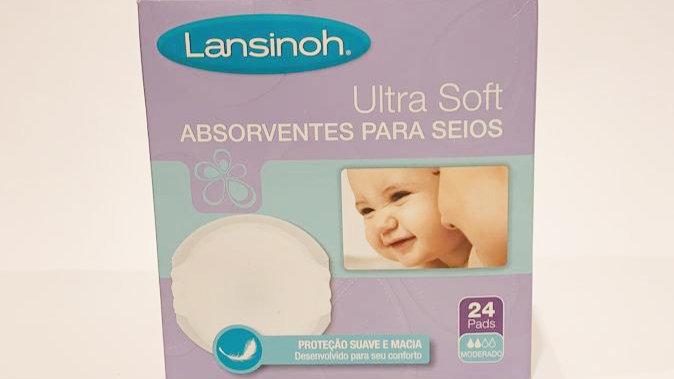 Absorvente p Seios Ultra Soft Lansinoh 24 un