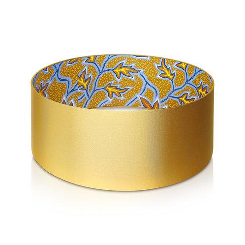 Abat-jour cylindrique   Suspension en taffetas et imprimé wax - Yallile
