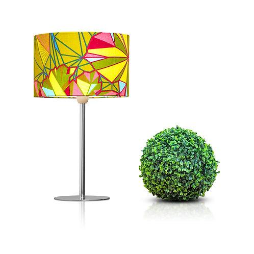 Lampe de chevet design en imprimé wax  - Vert de Kurudi