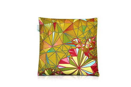 Coussin wax carré - vert 40x40cm vert de kurudi