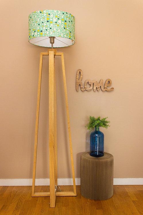 Lampadaire pied bois avec abat-jour design scandinave - Hello