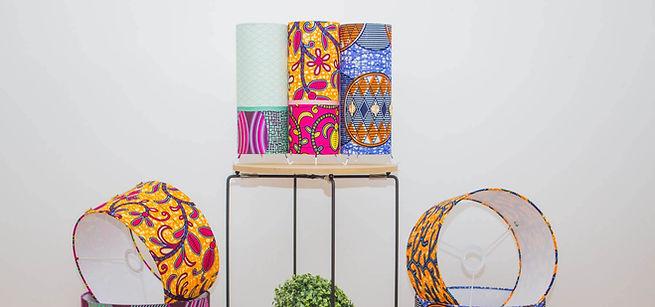 lampes à poser aux imprimés wax, scandinave et japonais| My Cosy Eden