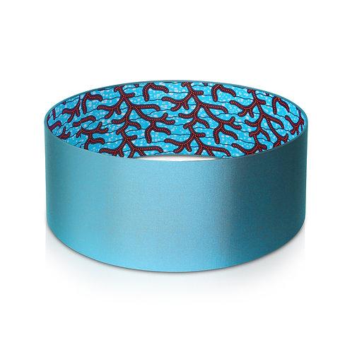 Abat-jour design | Suspension en taffetas et imprimé wax - Yaya
