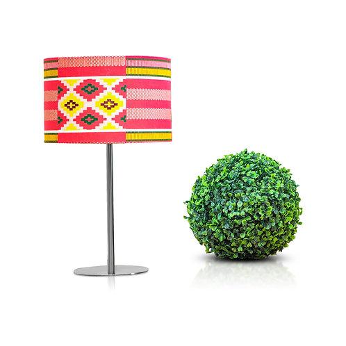 Lampe de chevet design en imprimé wax géométrique rose - Baby