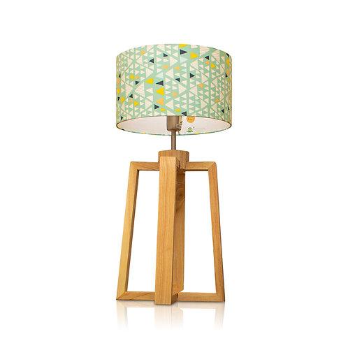 Lampe de table bois avec abat-jour scandinave - Hello Kurudi