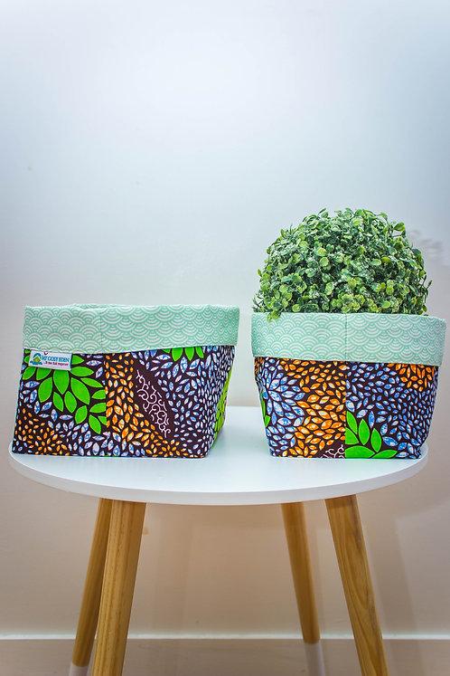 vide-poche cache-pot panière wax pagne africain ethnique ankara