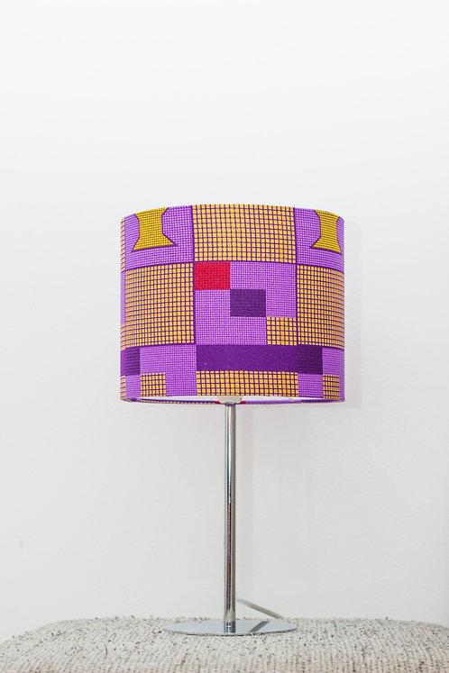 Lampe de chevet design imprimé wax géométrique - Nayoé #2