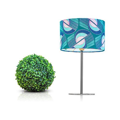 Lampe de chevet design tissu wax aux motifs géométriques - nono