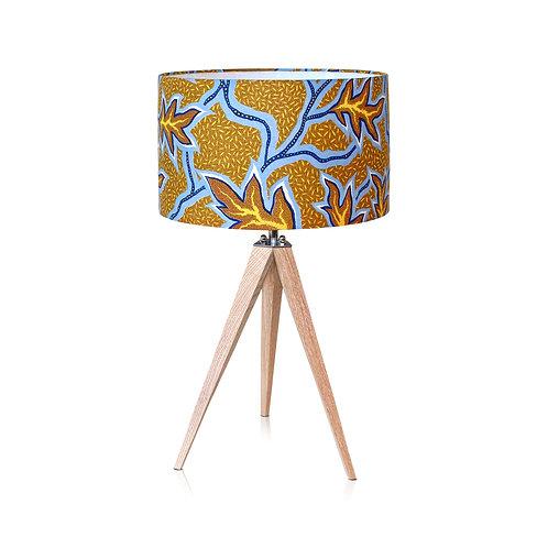 Lampe trépied bois avec abat-jour wax  - Yallile