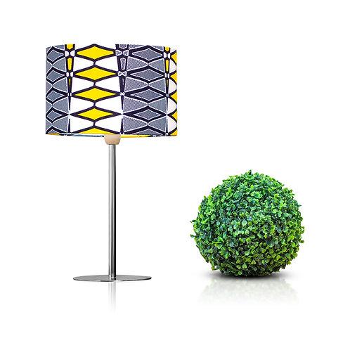 Lampe de chevet design avec imprimé wax géométrique - Yellow