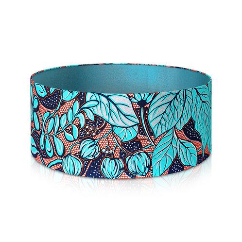 Abat-jour design fleuri | Suspension en taffetas et imprimé wax - Yanisse