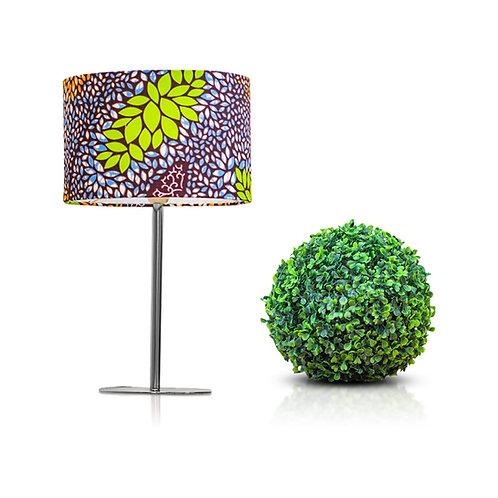 Lampe de chevet design en tissu wax aux motifs fleuris - Tabou