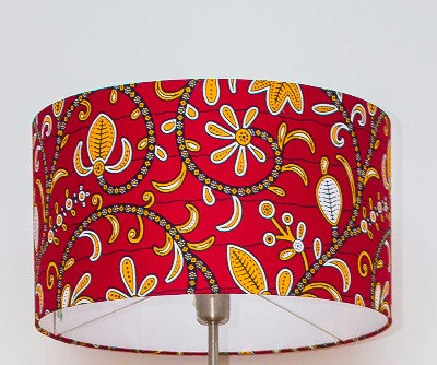 Abat-jour wax lampe wax  pagne africain ethnique ankara