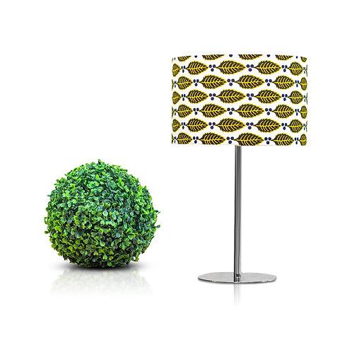 Lampe de chevet design imprimé wax aux motifs feuilles -  leaves