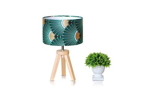 Lampe de chevet bois avec abat-jour imprimé japonais - Yaris