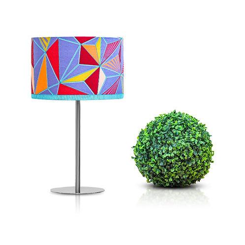 Lampe de chevet design imprimé wax bleu - Thamani#5
