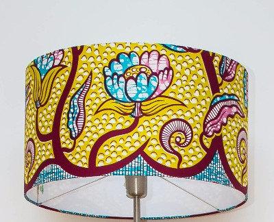 Abat-jour wax lampe wax  pagne africain ethnique ankara