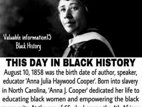 Anna Julia Haywood Cooper: Educator