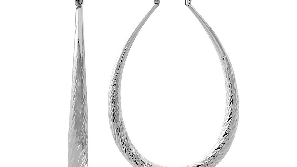 Silver Brass Hoop Earrings