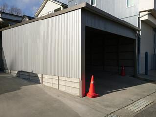 東郷町でガレージ工事
