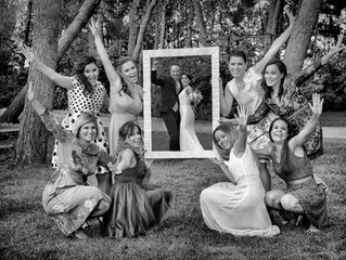 Fotografía creativa de boda...