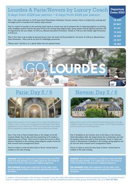 Lourdes by Luxury Coach