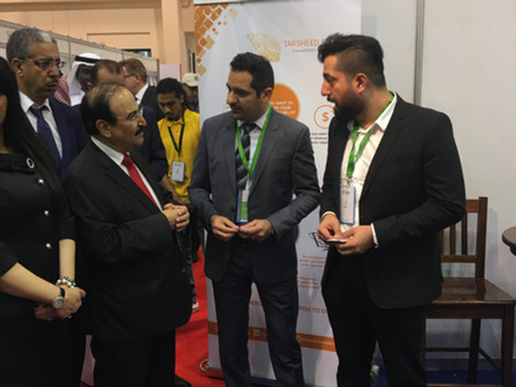 Electricity & Water Authority Minister visit to Tarsheed Energy stand at STEEB 2017