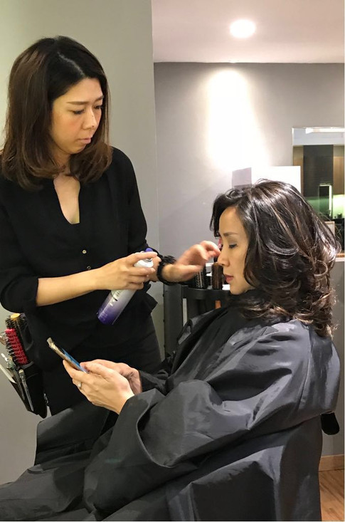 Mao at work. Focused and precise. Let her magic work on you.