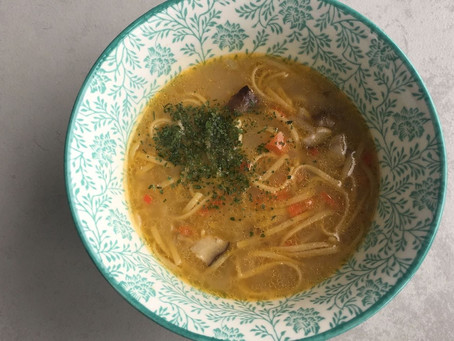 Sopa de shiitake