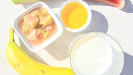 Rhabarber Melk Fresh mit Leinöl