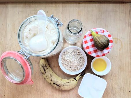Feige Hafer Protein Drink mit Leinöl