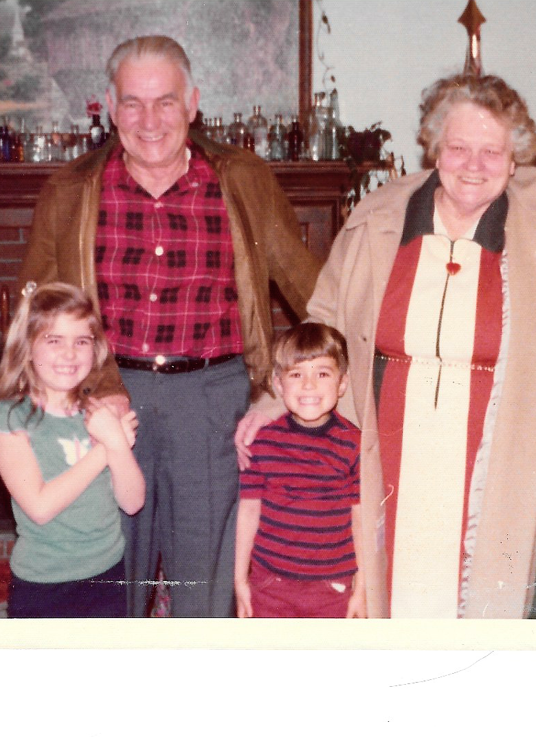Me & my brother with Grandma & Grandpa