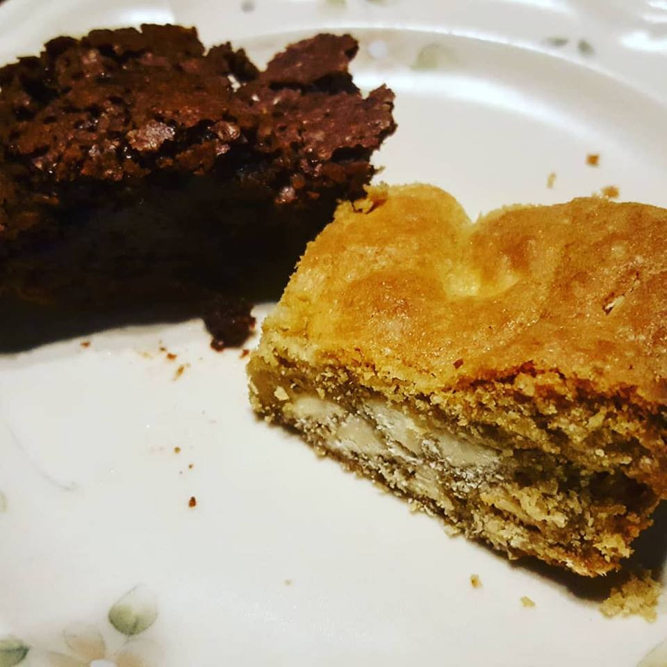 White Chocolate Chip Cookie Bars & Mexican Brownies