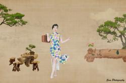 中国风工笔画 (3) -园林--周莉 signature