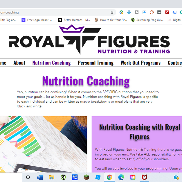 Royal Figures Nutrition and Training