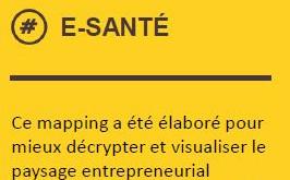 Mapping des startups et PME innovantes en matière d'e-santé