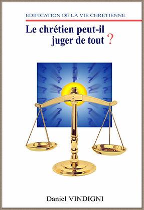 """Livre """"Le Chrétien peut-il juger de tout"""""""