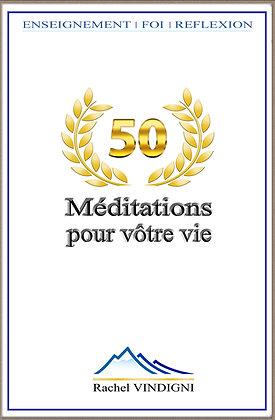 """Livre """"50 Méditations pour votre vie"""" - Rachel Vindigni"""